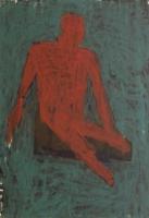 062-zittende-figuur-acryl-papier-100x70