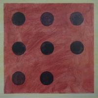Diaghilev 2 - acryl/papier - 40 x 40 - 2017