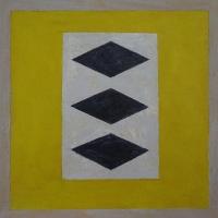 Diaghilev 1 - acryl/papier - 40 x 40 - 2017